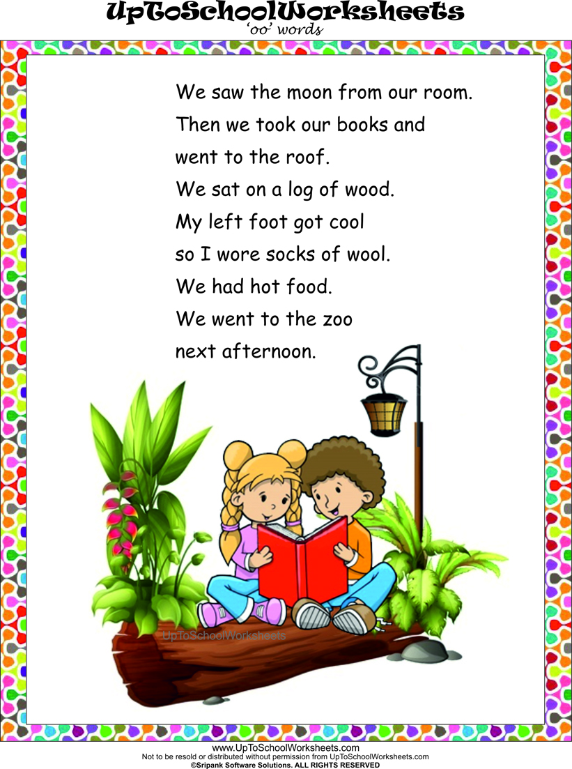 English Kindergarten Worksheets degree reading comprehension – Kindergarten English Worksheets Free