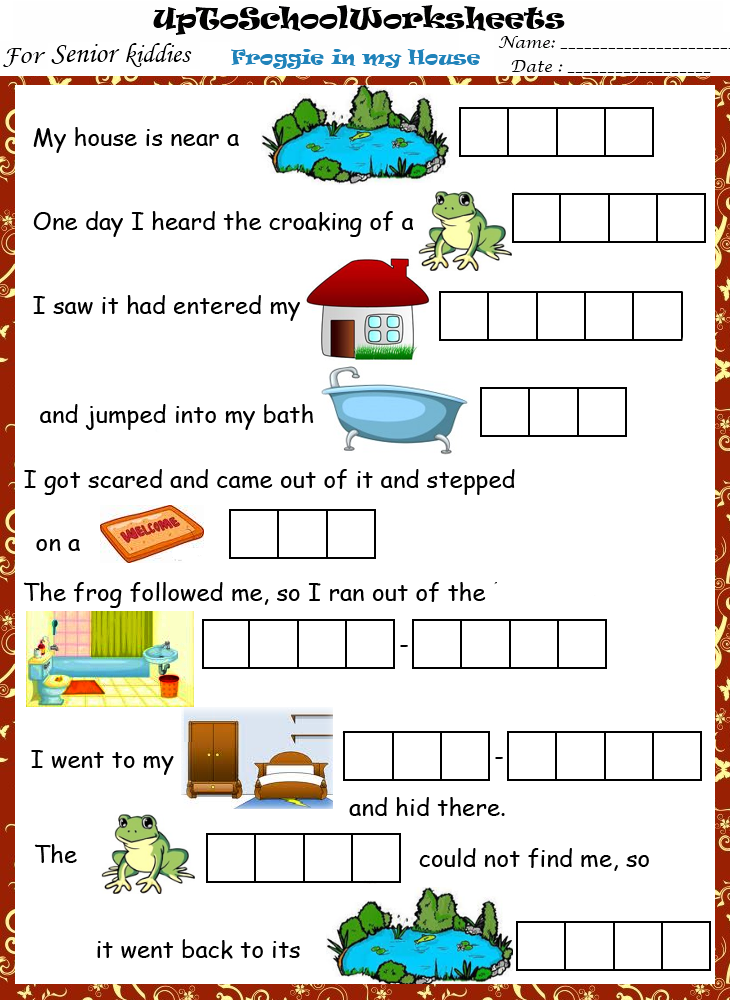 Upper KGEnglish ReadingworksheetsCBSEICSESchool – Kindergarten Worksheets English