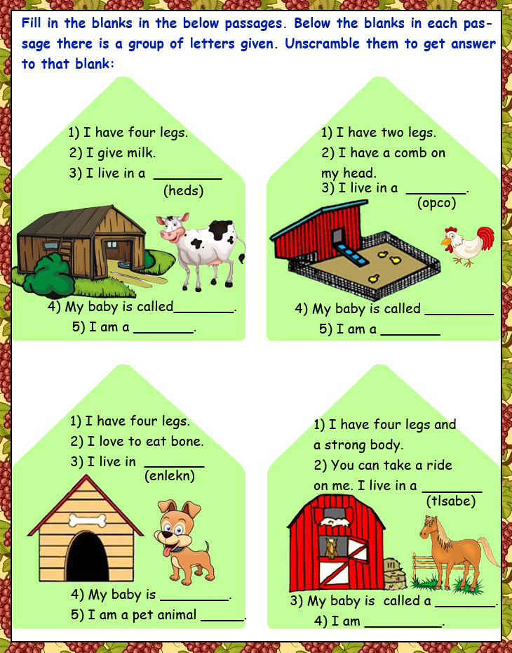 Upper KG|English Reading|worksheets|CBSE|ICSE|School ...