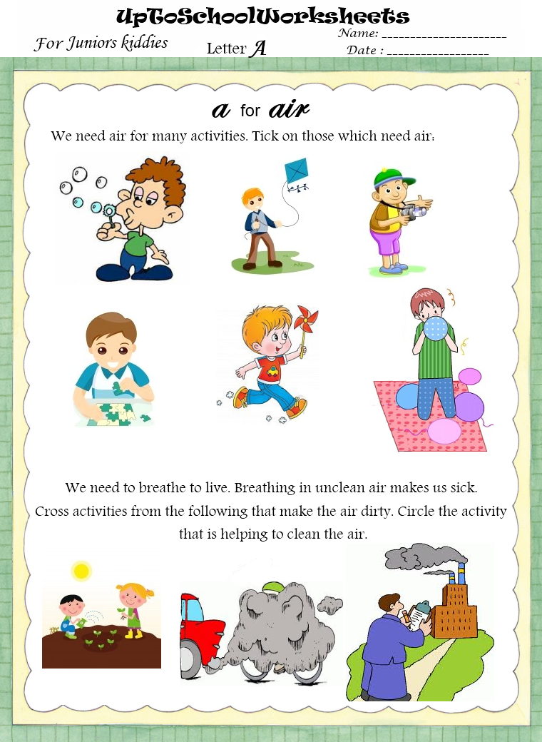 grade lkg english writing and activities worksheets cbse icse