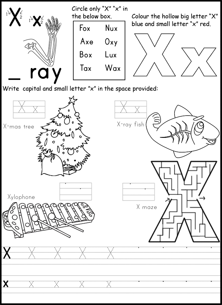 Kindergarten Letter Writing Worksheets alphabet for kindergarten – Letter Writing Worksheets for Kindergarten