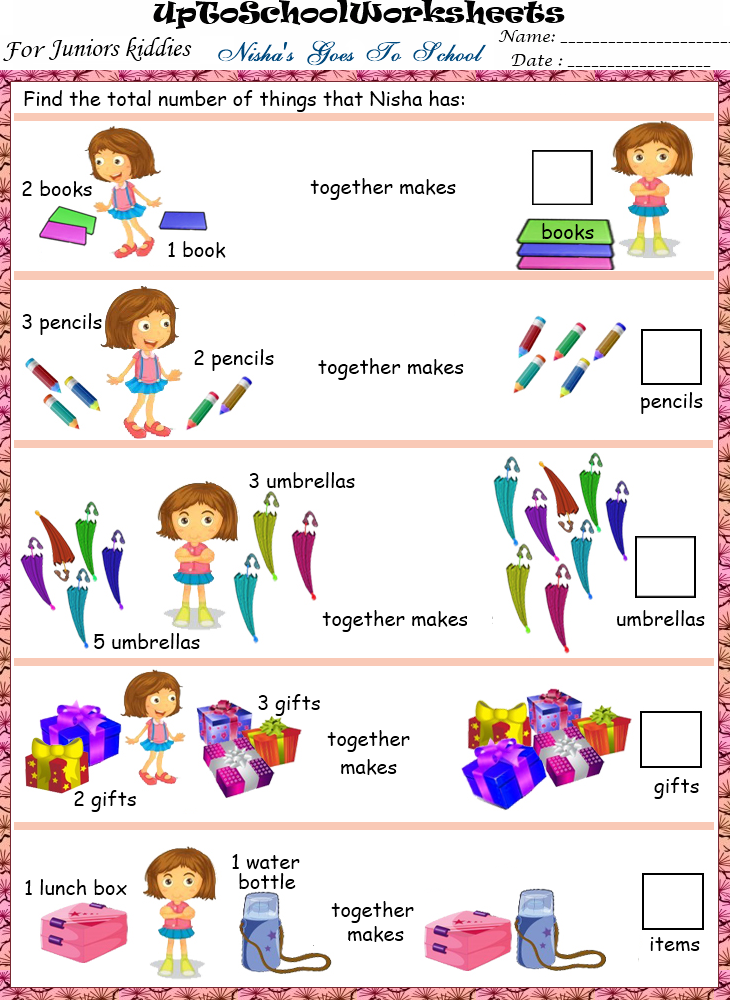 KINDERGARTEN Fun based Maths Worksheets : Lower KG (80 Worksheets)