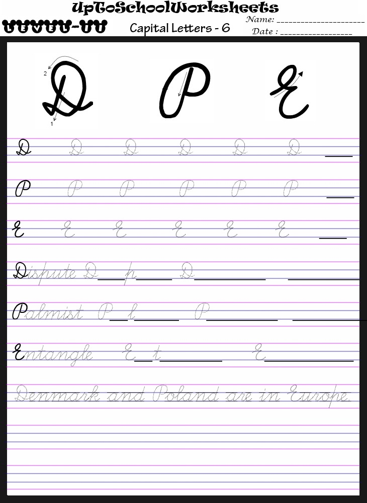 Handwriting worksheets for ages 7-9 (40 Worksheets)