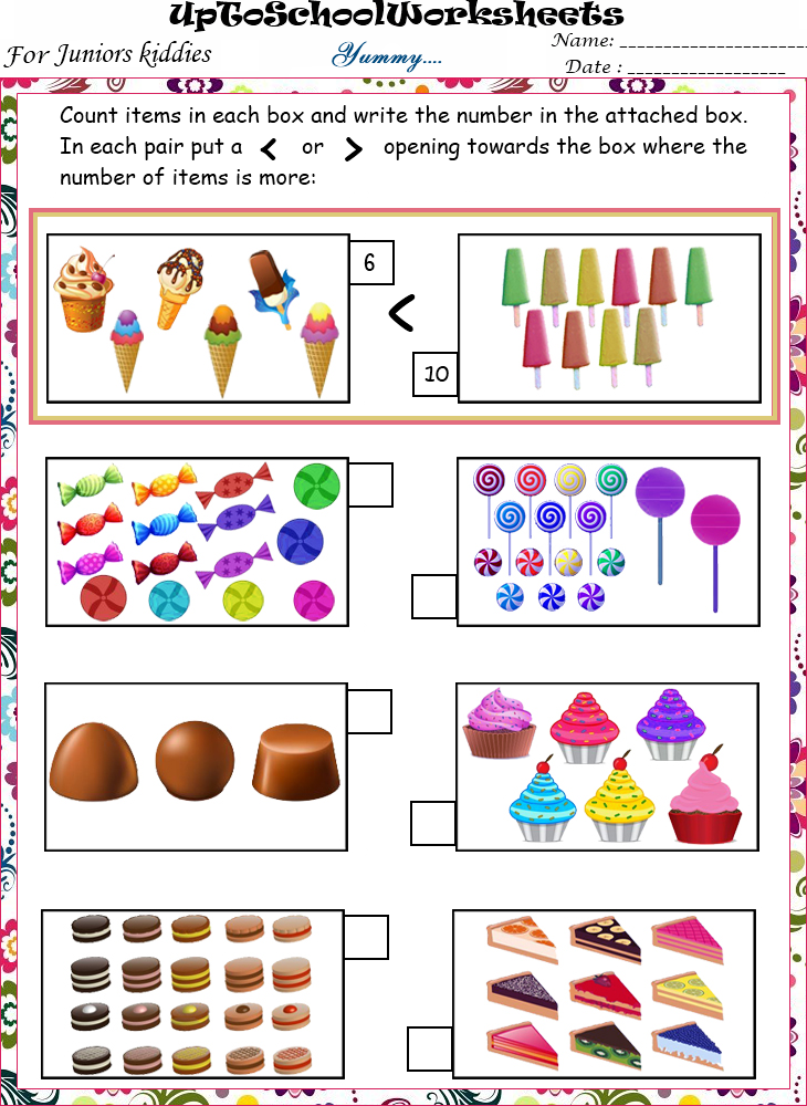 KINDERGARTEN Fun based Maths Concepts Worksheets : Lower KG (40 ...