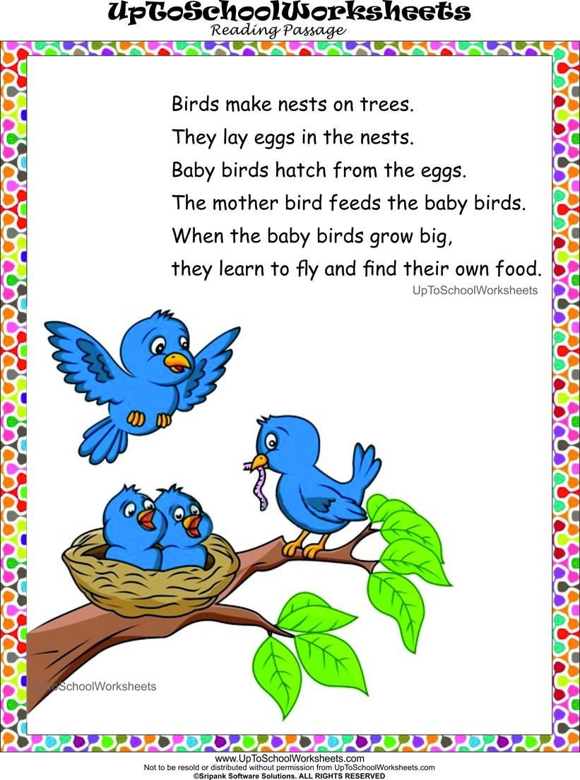 English Reading Worksheets For Kindergarten Upper kgenglish ...