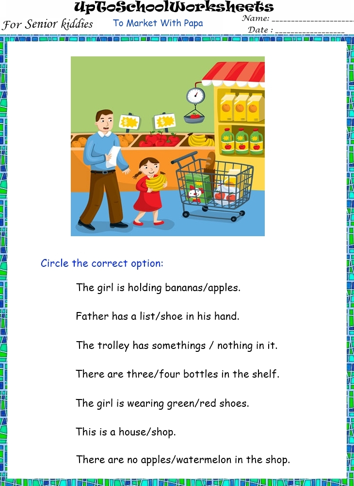 KINDERGARTEN Fun based English Worksheets - Upper KG (28 Worksheets)