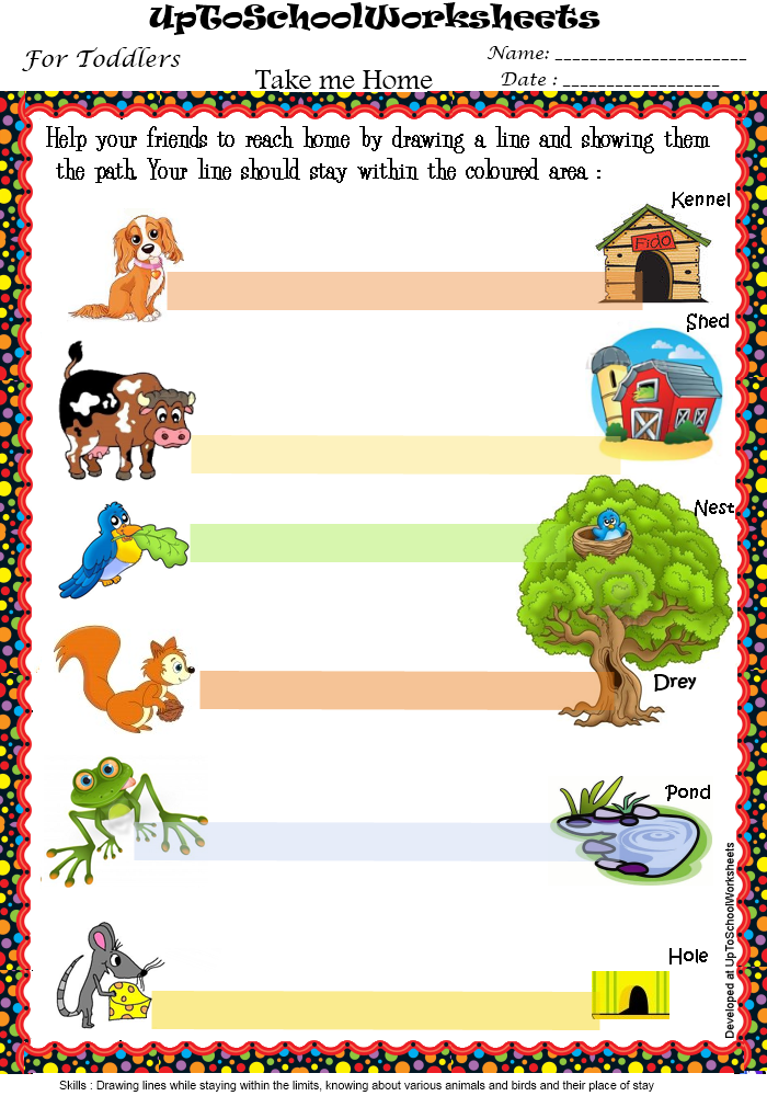 Kindergarten Tracing Worksheets : Nursery (26 Worksheets)